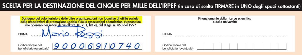 Fax simile modulo 730